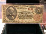 1882 Series $5, Wells Fargo NB of San Francisco #5105 National!