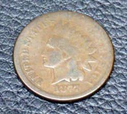 1877 Indian Head Cent in Good