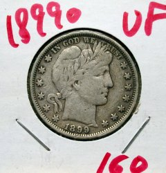 1899 O Barber Half in VF!