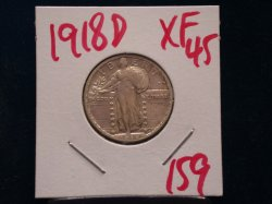 1918 D Standing Liberty Quarter in XF 45!