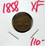 1858 Flying Eagle Cent in XF