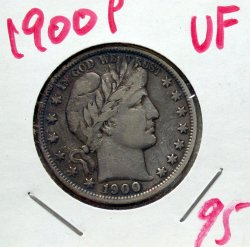 1900 P Barber Half in VF!