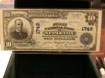 1902 $10 1st NB Appleton, WI National 1749!