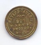 Heyers Tavern Owosso, MI Good For 10c Token