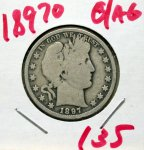 1897 O Barber Half in Good/AG!