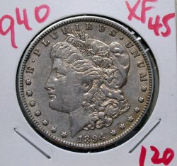 1894 O Morgan Dollar in XF 45!