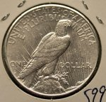 1934 S Peace Dollar in AU 58!
