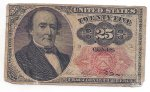 1874 25c US Fractional Currency, Circ