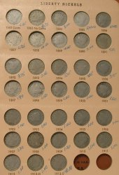 1883-1912 Complete V Nick Collection in Dansco Album