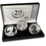 2006 3 Piece American Silver Eagle Set in OGP!