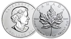Silver Canadian Maple Leafs 1ozt! Random Dates. - Click Image to Close